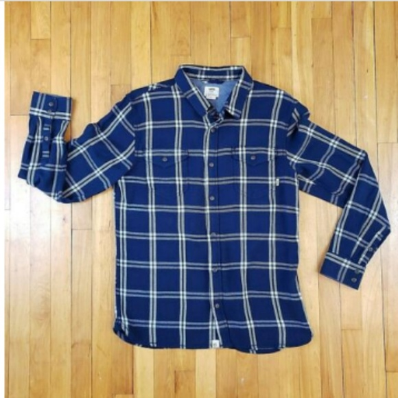 Vans Other - Vans Off The Wall Plaid Button Front